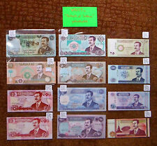 "Iraq ""Portraits Of Saddam"" (1986-02) 12 Δ UNC Banknotes {pakimProPAK}: P73-P89 A"