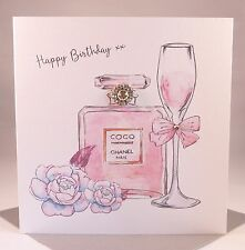 LUXURY COCO CHANEL Perfume Ladies Wife Girlfriend Mother Daughter Birthday Card
