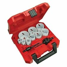 NEW MILWAUKEE 49-22-4025 13PC GENERAL PURPOSE HOLE SAW KIT BI METAL ICE HARDENED