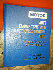 1989-92 MOTOR AUTO TUNE UP ELECTRONICS SERVICE MANUAL FORD DODGE CHRYSLER EAGLE