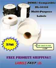 20 Rolls - 30336 Multipurpose Labels - Compatible w/ Dymo® LabelWriters