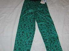 NWT Girls L 10/12 CALVIN KLEIN Penguins and Snowflakes Sleep Pajama Pants Green
