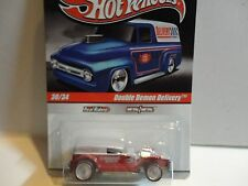 Hot Wheels Slick Rides Red Double Demon Delivery w/Real Rider Wheels