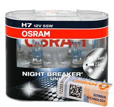 H7 Osram Night Breaker Unlimited NightBreaker +110% 64210NBU SET | 100 GENUINE!