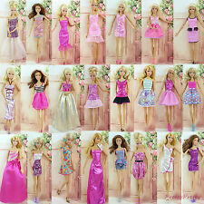 6Pcs Fashion Mini Dress Wedding Party Skirt Summer Clothes For Barbie Doll Gift