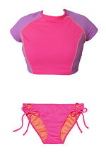 Victoria's Secret Cropped Rashguard Bikini Set Small