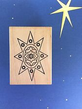 Rare OUTLINES Christmas Bethlehem Star Religious Wood Mount Rubber Stamp LAYER