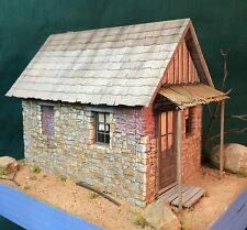 O/On3/On30 Scale Rich White Models-Miners Cabin-Hydrocal Walls Only