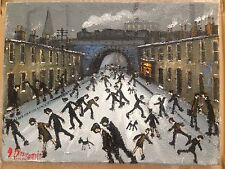 "JAMES DOWNIE SIGNED ORIGINAL OIL PAINTING - ""RAILWAY STREET""  mint with invoice"