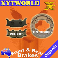 FRONT REAR Brake Pads Shoes for Yamaha XV 250 S Virago 1995-2000