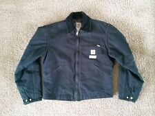 MENS CARHARTT J01 BLACK DUCK DETROIT WORK JACKET 38R corduroy blanket lining wip