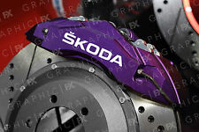 x6 Skoda Logo Premium Vinyl Brake Caliper Decals - Stickers