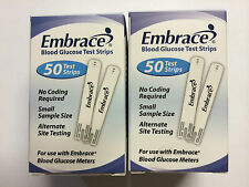 Embrace Blood Glucose (100) Test Strips  Expiration: 07/20/2018