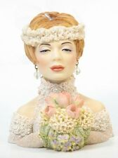 "Cameo Girls Head Vase Clarissa 1996 ""Blushing Bride"" MIB FREE SHIPPING"