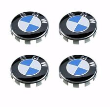 6 Pcs Genuine BMW Emblem Logo Badge Hub Wheel Rim Center Cap 68mm Set of 6 grey