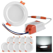 10pcs 7W Upgrade LED Recessed Light Round Ceiling Panel Downlight Fixture Lamps