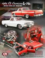 ACME 1:18 SCALE DIECAST METAL WHITE 1965 CHEVROLET EL CAMINO BROCHURE CAR