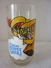 McDonald's The Great Muppet Caper Collectible Glass 1981 Kermit, Gonzo & Fozzie