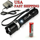 Tactical Ultrafire CREE LED Rechargeable Zoom Flashlight +18650 Battery+ Charger