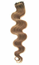 """Premium Clip In Remy Human Hair Body Wave Half Head Extensions16""""Light Ash Brown"""