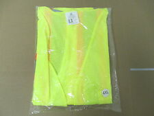FROG WEAR GLO-002 FLUORESCENT YELLOW SAFETY VEST SIZE 4XL BRAND NEW REFLECTIVE