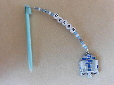 Personalised DS / DSi Stylus Pen with charm R2D2 blue pen