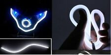 1 x Flexible Audi Style Neon White Tube DRL LIGHT UNIVERSAL FOR ALL BIKES