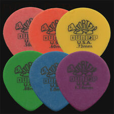 6 x Dunlop Tortex Teardrop Guitar Picks / Plectrums - 1 Of Each Type