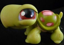 Littlest pet shop LPS # 07 pink and Green Turtle *