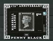 Marshall Islands 2015 MNH Penny Black 175th Anniv 1v M/S Stamps-on-Stamps