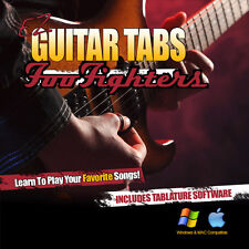 Foo Fighters Tab Learn How To play Guitar Tablature + Tab Software CD Grohl