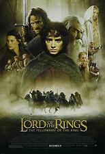 The Lord Of The Rings Fellowship Of The Ring Single Sided ORIGINAL MOVIE POSTER