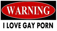 Gay Porn i Love STICKERS DECAL VINYL BUMPER CAR Pride Prank Heart LAPTOP Warning