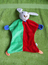 BEST PRICE LONDON  COMFORTER SOFT TOY GREEN RED BABY SHEEP BLANKIE RATTLE