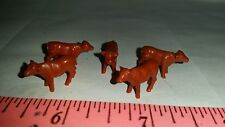 1/64 ERTL FARM TOY QTY OF 5 ASSORTED HEREFERD BEEF COW CALVES 4 YOUR DISPLAY