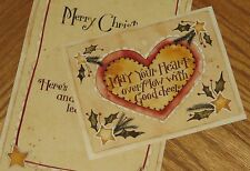 Christmas Heart Karen Hillard Crouch Art 1999 Lang Main Street Press Cards 4ct