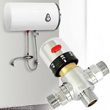 Copper thermostatic mixer Mixing valve Hot Cold Water Shower solar heater New