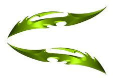 Kawasaki Ninja ZX12 ZX10 ZX9 ZX6 R 300 250 Green Blade Sticker set Decal Set