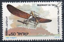 1913 Jules Vedrines BLERIOT XI 'Holy Land' Aircraft Stamp (1985 Israel)