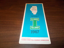 1967 Illinois Tollway Vintage Road Map and Guide