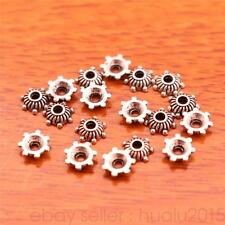500 Piece 5mm Bead Caps Flower Charms Tibetan Silver DIY Jewelry Bracelet 7039H