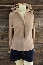 Bloomingdales Full Zip Cashmere Hoodie Sweater Size Large