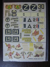 1/72 DECAL ESCI 12 USA B 24 LIBERATORS DECALCOMANIES