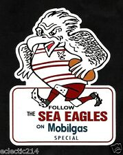 FOLLOW THE SEA EAGLES ON MOBILGAS' Vinyl Decal Sticker MANLY WARRINGAH NRL