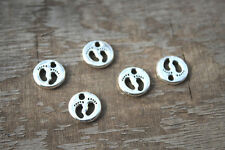 30pcs--Baby Feet Charms, Antique Tibetan silver  Baby Feet Pendant 11x11mm