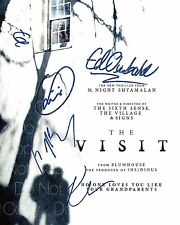 The Visit signed M. Night Shyamalan Hahn 8X10 photo picture poster autograph RP