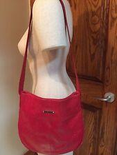 Francesco Biasia Hot Pink Leather Medium Shoulder Bag Purse FS