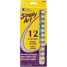 Loew Cornell Simply Art Acrylic Paints 12 Colors, NEW