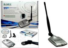 AMPLIFICATORE WIFI GSKY RICEVITORE GSKY USB 2.0 WIRELESS  ANTENNA 5 DBI 500 MW