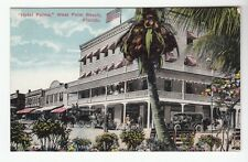 """[49728] OLD POSTCARD """"HOTEL PALMS"""" in WEST PALM BEACH, FLORIDA"""